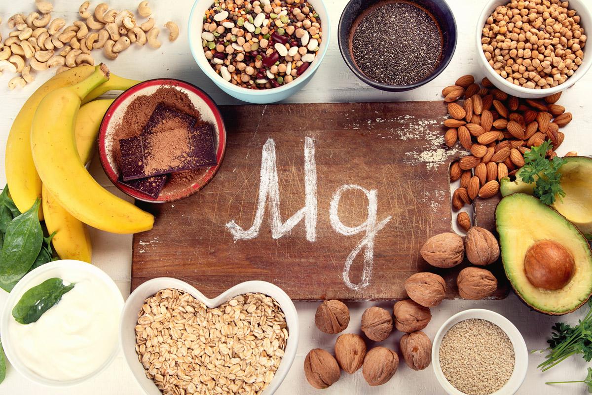 Magnesium rich foods.
